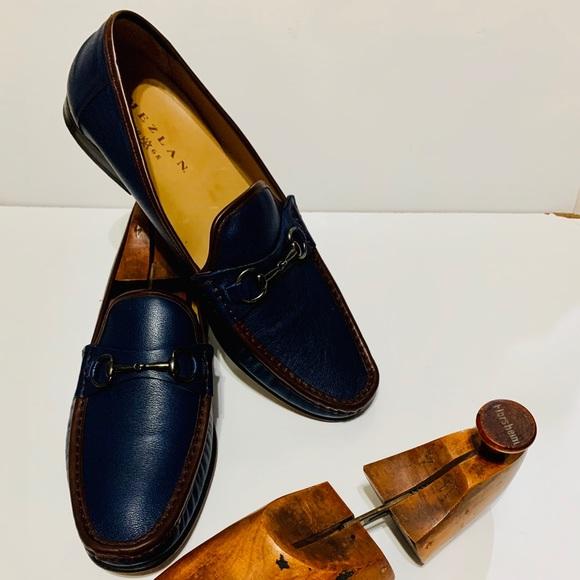 Mezlan Ferrant Leather Bit Loafer Shoes